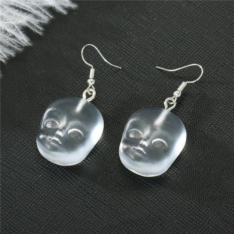 Halloween punk resin face hand earrings vintage resin earrings NHGO171854's discount tags