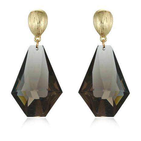 Boucles d'oreilles en résine acrylique géométriques transparentes élégantes NHGO171860's discount tags