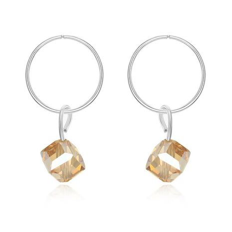 New silver geometric color small earrings NHGO172040's discount tags