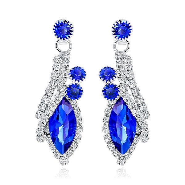Fashion ladies earrings bride exaggerated crystal earrings NHDR172118