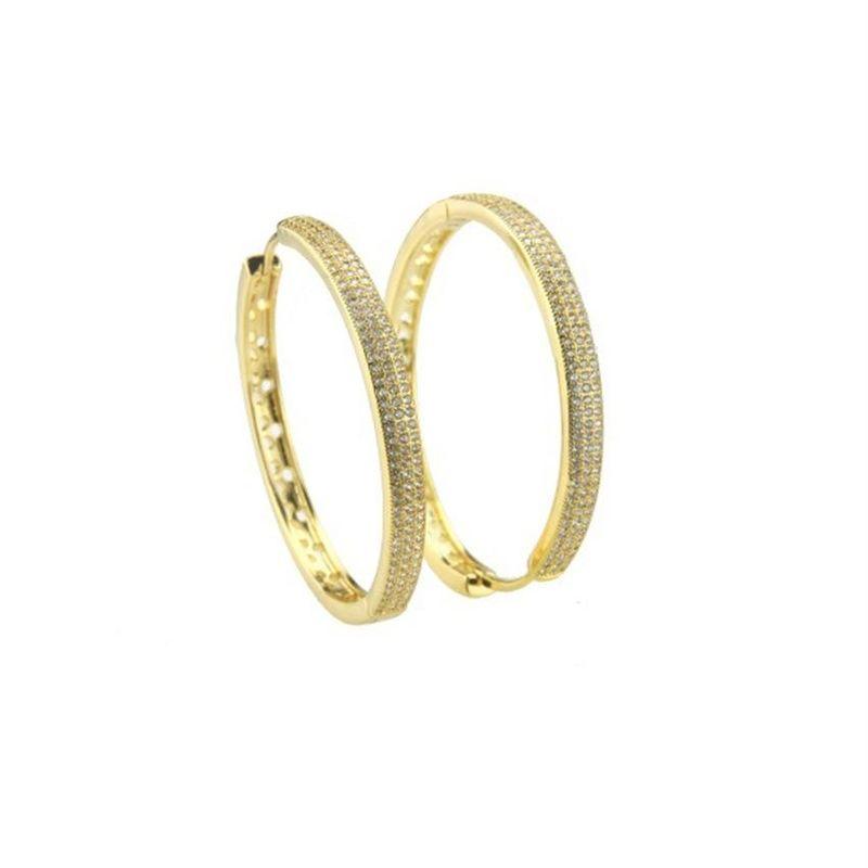 E-commerce hot-selling copper-plated zirconium hollow earrings NHBP172125