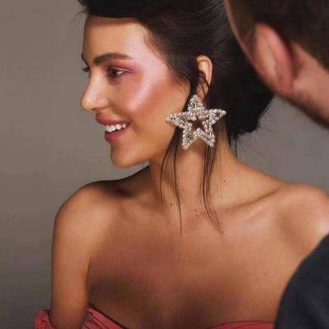 Pentagram earrings super flash NHWK171989's discount tags