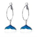 Elegantes pendientes de cola de pez azules lindos NHGO171833