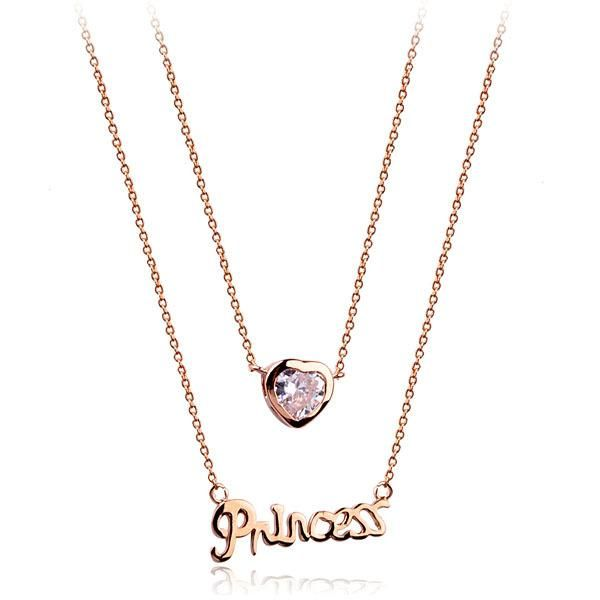 Heart letter zircon necklace NHLJ172262