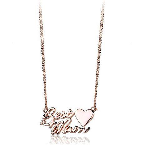 Collier pendentif coeur simple lettre nouvelle tendance NHLJ172310's discount tags