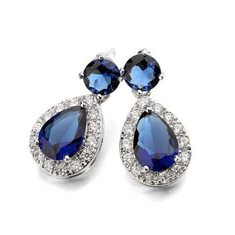 Fashion drop-shaped AAA zircon earrings with gold earrings NHLJ172318's discount tags