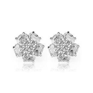 Ice and Snow Peony Stud Earrings AAA Zircon Inlay Fashion Earrings NHTM172222's discount tags