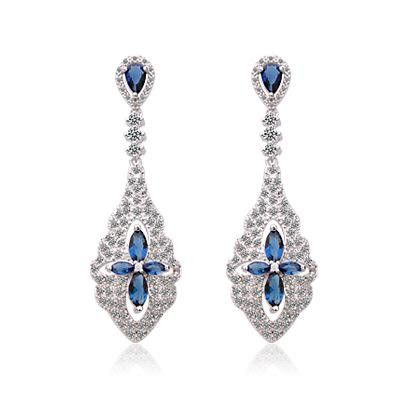 Stylish sparkling zircon pearl earrings NHTM172225's discount tags