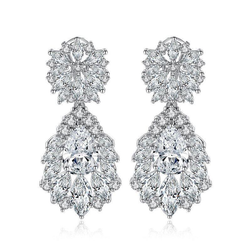 AAA zircon women's earrings wedding stud earrings NHTM172243