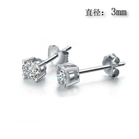 Exquisite small earrings zircon earrings in sterling silver NHLJ172320's discount tags