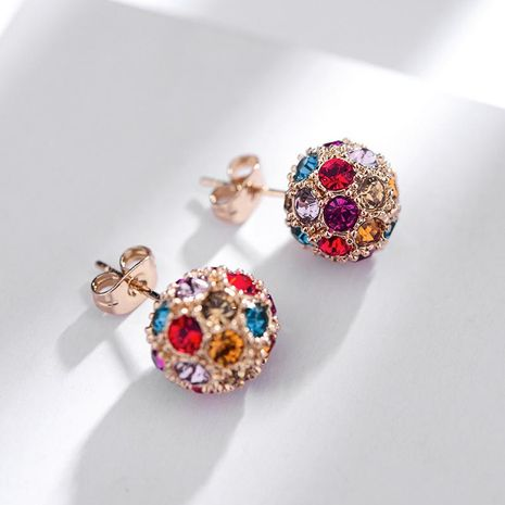 New fashion earrings full of small ball earrings NHLJ172271's discount tags