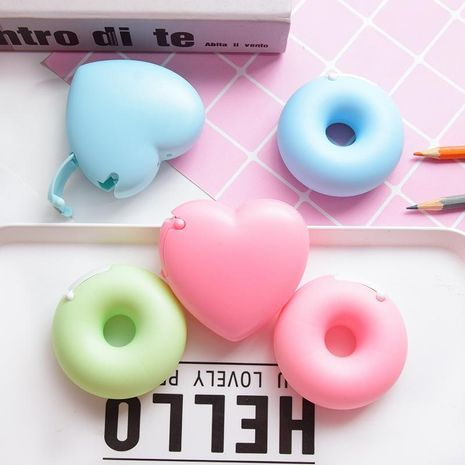 Cartoon stationery portable donut tape seat invisible tape cutter NHHE172509's discount tags