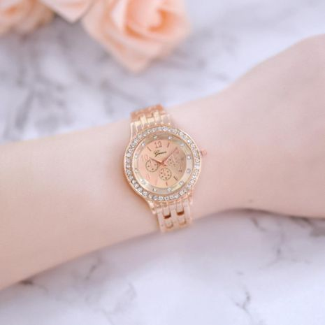 New couple watch fashion diamond dial three eyes quartz watch NHHK172339's discount tags