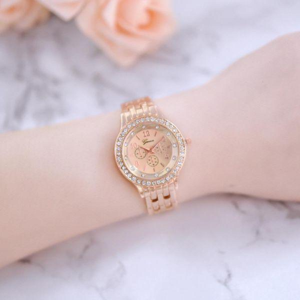 New couple watch fashion diamond dial three eyes quartz watch NHHK172339