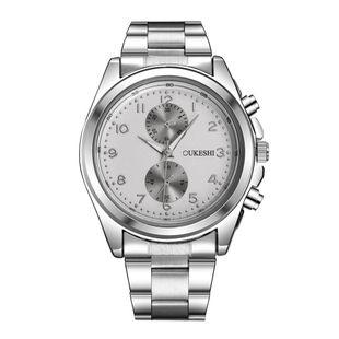 Men's watch simple waterproof steel belt quartz watch NHSY172406's discount tags