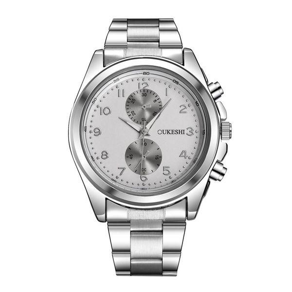 Men's watch simple waterproof steel belt quartz watch NHSY172406