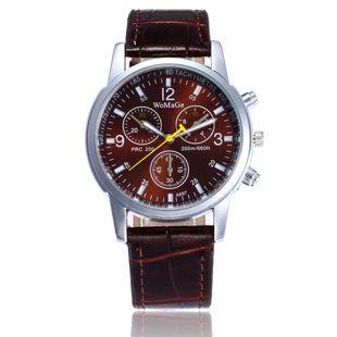Belt watch fashion quartz watch three eyes six needle quartz men's watch NHSY172413's discount tags