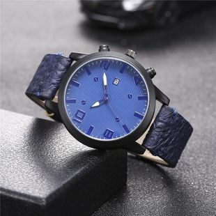 New men's single calendar casual digital Roman scale quartz watch belt watch NHHK172341's discount tags