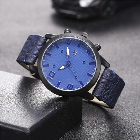 New men's single calendar casual digital Roman scale quartz watch belt watch NHHK172341's discount tags