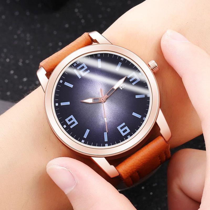 New men's single calendar casual digital Roman scale quartz watch belt watch NHHK172342