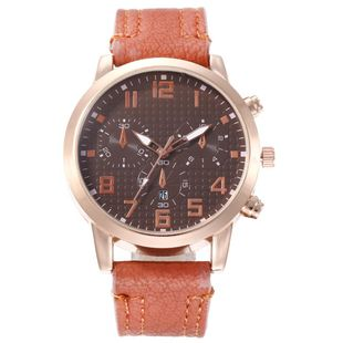 New men's single calendar casual digital Roman scale quartz watch belt watch NHHK172343's discount tags