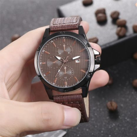 New men's single calendar casual digital Roman scale quartz watch belt watch NHHK172344's discount tags