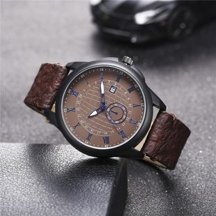 New men's single calendar casual digital Roman scale quartz watch belt watch NHHK172345's discount tags