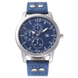 New men's single calendar casual digital Roman scale quartz watch belt watch NHHK172347's discount tags