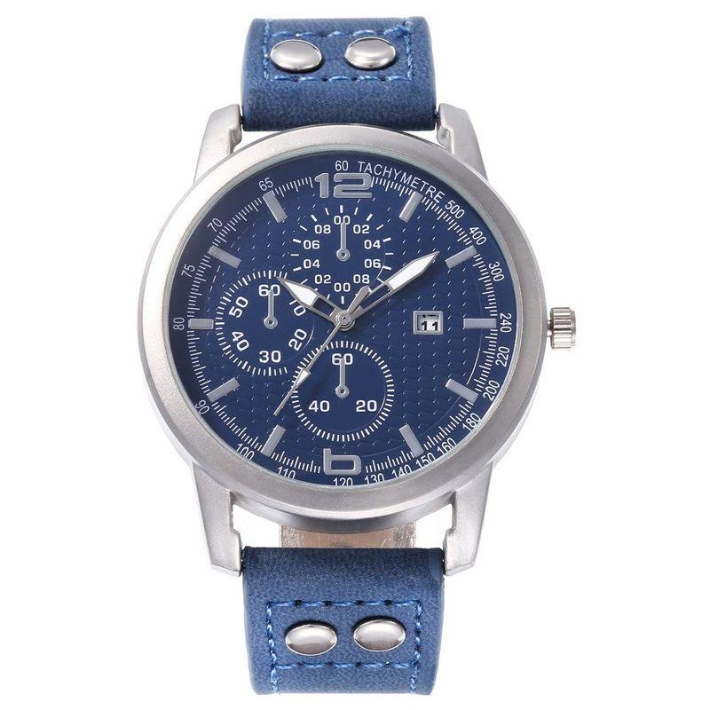 New men's single calendar casual digital Roman scale quartz watch belt watch NHHK172347