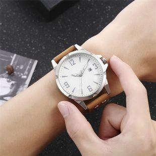 New men's single calendar casual digital Roman scale quartz watch belt watch NHHK172348's discount tags