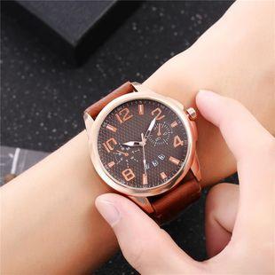 New men's single calendar casual digital Roman scale quartz watch belt watch NHHK172349's discount tags