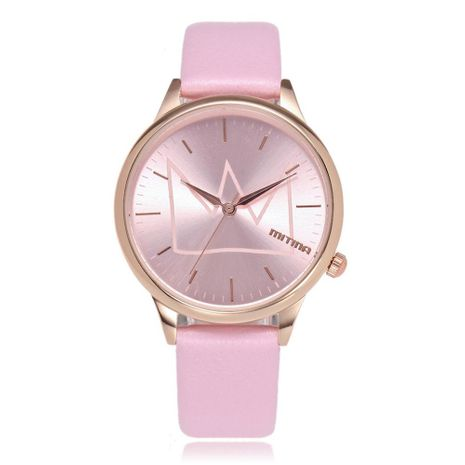 Fashion ladies watch simple rose gold shell quartz belt fashion watch NHSY172400's discount tags