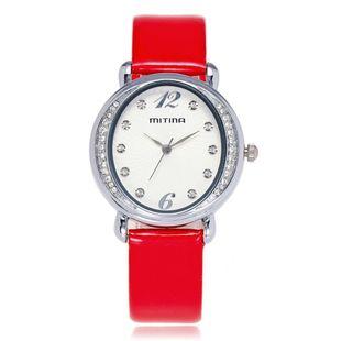 Women's Watch Fashion Diamond Oval Disc Quartz Belt Watch NHSY172416's discount tags