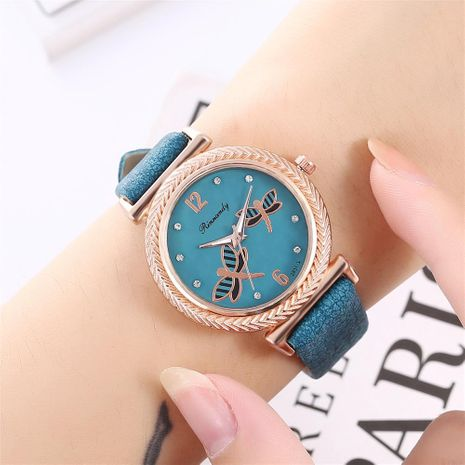 Women's double-sleeve belt casual quartz watch NHHK172355's discount tags