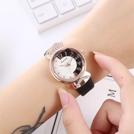 Women's two-color literal belt casual quartz watch NHHK172357's discount tags