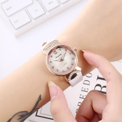 Ladies fashion rhinestone inlaid scale small belt quartz watch NHHK172360's discount tags