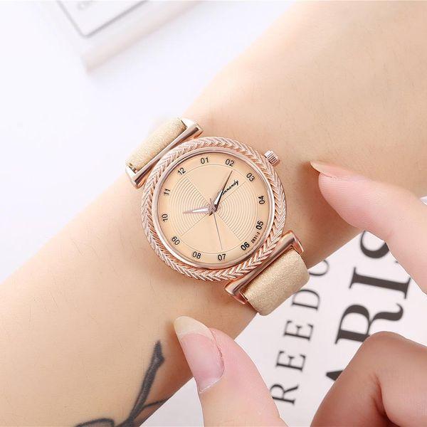 New ladies dial double scale quartz watch small belt quartz watch NHHK172361