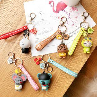 Creative cartoon environmental keychain lovers cute couple gift bag car pendant NHCB172436's discount tags