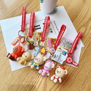 Cartoon Teddy Bear Green Dog Keychain Cute Couple Gift Bag Car Pendant NHCB172445's discount tags