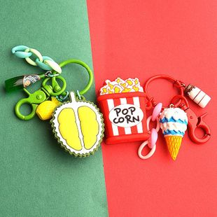 New mini food silicone keychain creative avocado lady bag pendant gift NHCB172455's discount tags
