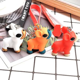 New resin cartoon puppy key chain bag pendant creative gift NHCB172458's discount tags