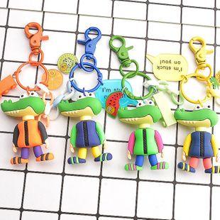 New silicone crocodile keychain beautiful fashion ladies bag pendant NHCB172468's discount tags