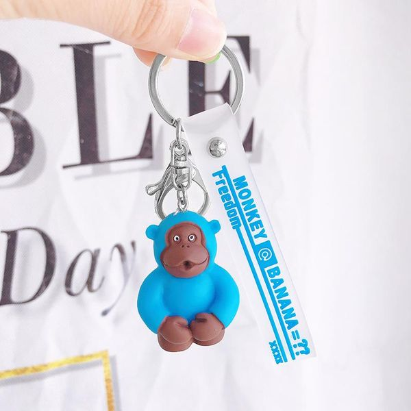New fluorescent orangutan keychain car key chain pendant cute cartoon gift NHCB172492