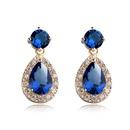 Fashion dropshaped AAA zircon earrings with gold earrings NHLJ172318