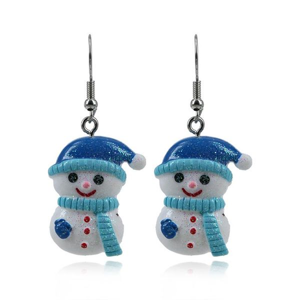 Hot Christmas Snowman Alloy Earrings NHKQ172846