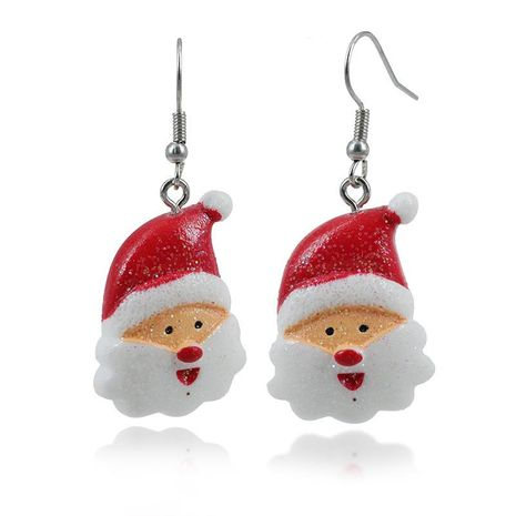 Cute cartoon acrylic colored santa gift earrings NHKQ172847's discount tags