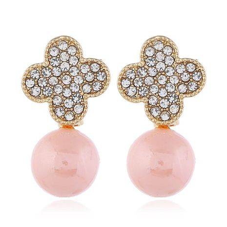 2019 Korean version of simple natural pearl alloy earrings NHKQ172848's discount tags