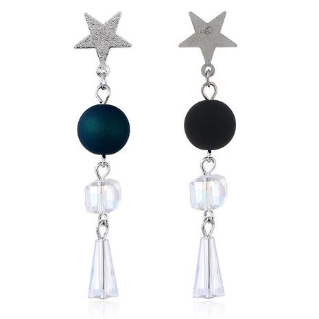 Cross-border supply 2019 new earrings accessories source factory Japan and South Korea five-pointed star stud earrings simple bead earrings NHKQ172863's discount tags