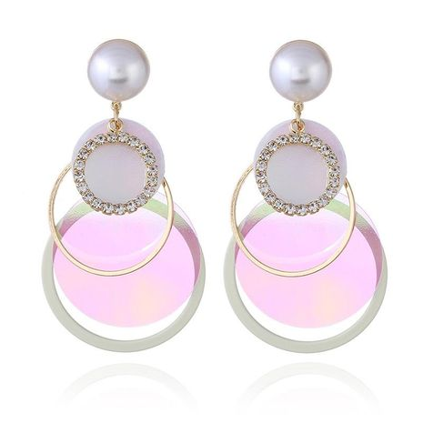 European and American retro geometric personality sequin earrings NHKQ172858's discount tags
