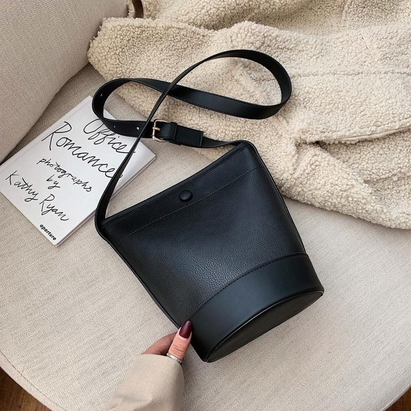 Bag female new crossbody bag hit color fashion one shoulder bucket bag NHTC172784